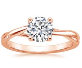 'Grace' Rose Gold Diamond Ring