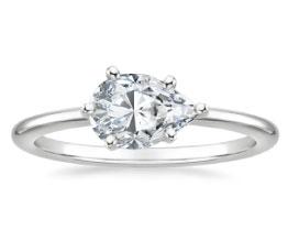 Horizontal Petite Comfort Fit Engagement Ring
