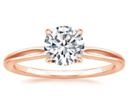 'Kalina' Rose Gold Solitaire Ring
