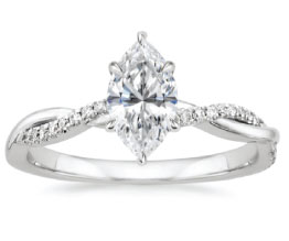 Petite Twisted Vine Marquise Ring