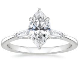 'Quinn' Marquise Three Stone Ring