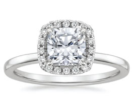 'Vienna' Cushion Cut Halo Diamond Ring