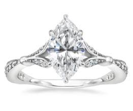 'Zinnia' Marquise Diamond Ring