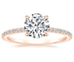 'Demi' Ring (Rose Gold Prongs)