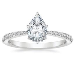 'Elena' Pear Diamond Ring