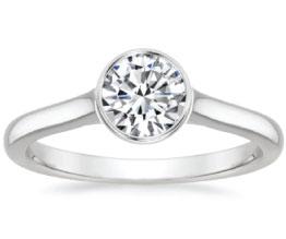 'Luna' Bezel Diamond Ring