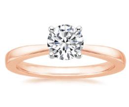 Petite Taper Rose Gold Engagement Ring