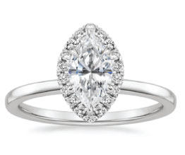 'Vienna' Marquise Halo Ring