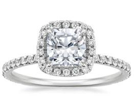 'Waverley' Cushion Cut Diamond Ring